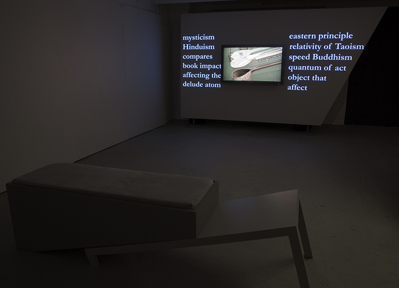 A Poem A Cut, 2013. Installation view.