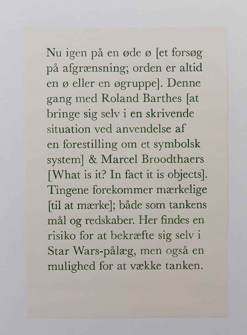Nu igen på en øde ø..., 2013. Akvarel på papir. 108 x 75cm